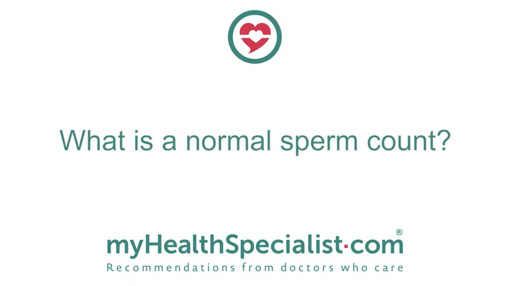 What Is A Normal Sperm Count?